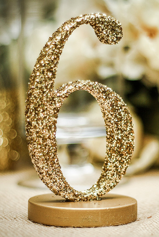 Glitter-Table-Number