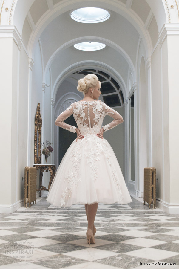 house-of-mooshki-tea-length-wedding-dress-fall-2014-charlotte-long-sleeve-gown-illusion-back-view