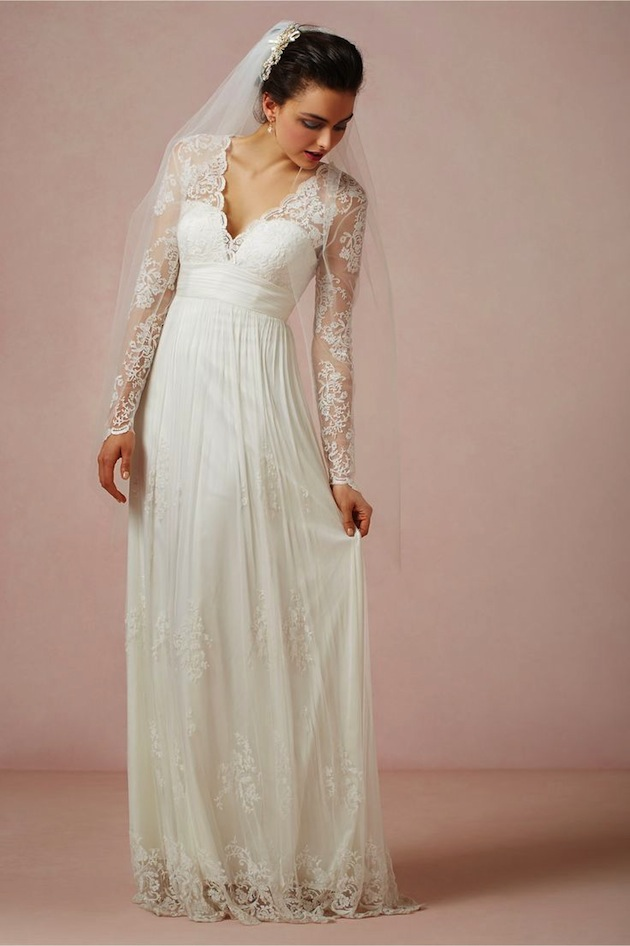 lace-sleeve-wedding-dress-Bridal-Musings-21