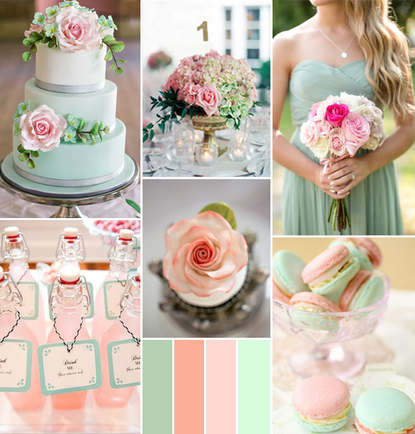 pink-peach-and-mint-spring-wedding-color-ideas