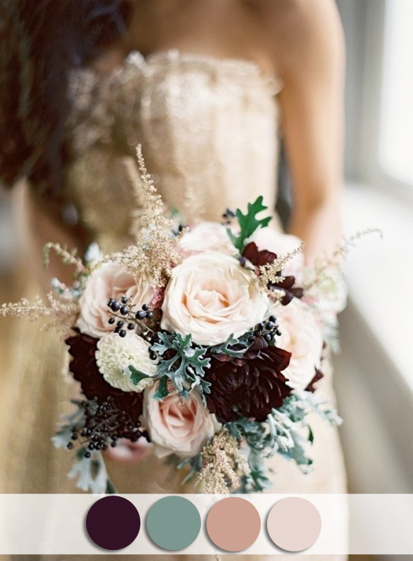 plum-and-sage-fall-nude-wedding-colors-for-october-brides