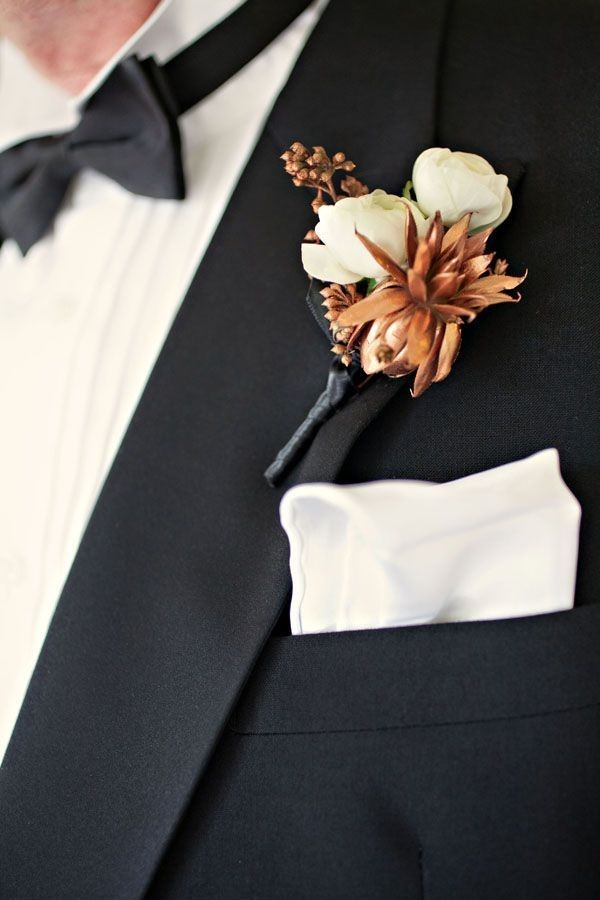 copper-wedding-boutonnieres