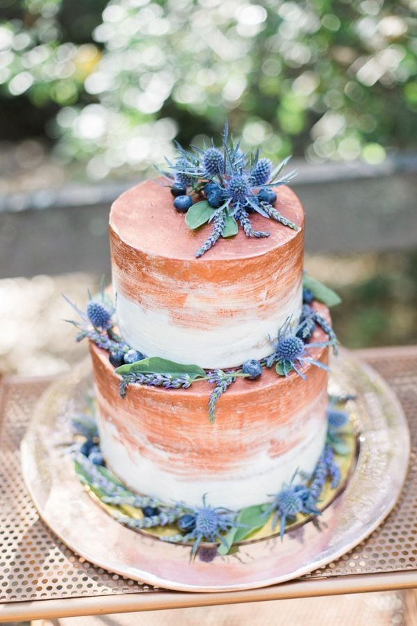 copper-painted-wedding-cake