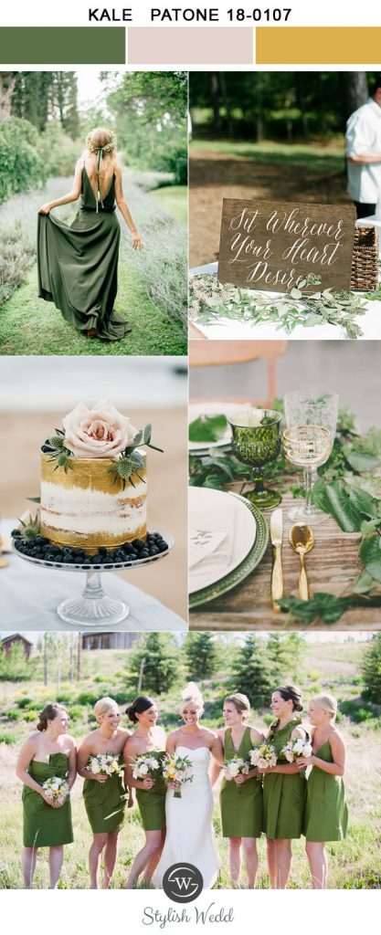 simple-kale-green-and-glliter-gold-spring-and-summer-wedding-colors-for-2017